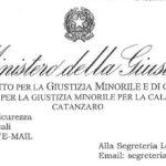 Il Centro per  Giustizia Minorile per la Calabria riscontra le note Al.Si.P.Pe